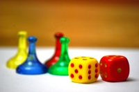 Dice with Board Game Pieces