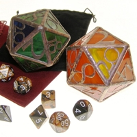 Stained Glass Dice