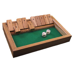 Shut the Box Dice Game