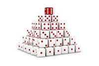 White Dice in Pyramid