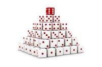 Photo White Dice Pyramid
